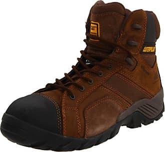 CAT Mens Argon HI Waterproof Comp Toe Hiking Boot,Dark Brown,10 M US