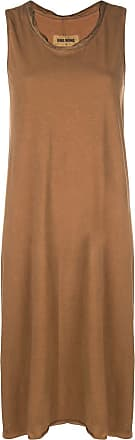 Uma Wang sleeveless midi jersey dress - Brown