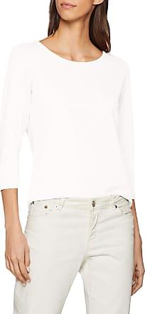 Jacqueline de Yong Womens JDYSAGA 3/4 Zip TOP JRS NOOS Longsleeve T - Shirt, White (Cloud Dancer), XS