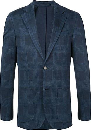 Eleventy tartan pattern blazer - Blue