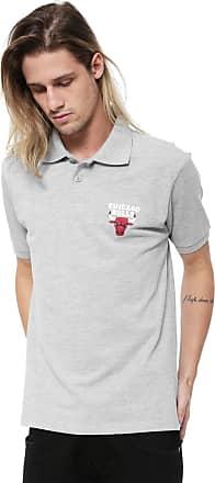 NBA Camisa Polo NBA Chicago Bulls Cinza
