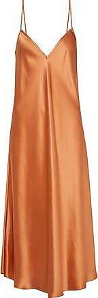 51f5e34dfc09 Ellery Ellery Woman Silk-satin Midi Slip Dress Copper Size 10