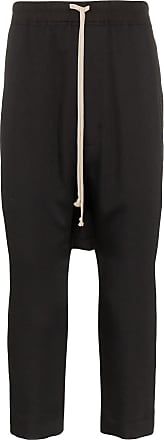 Rick Owens drop-crotch track trousers - Preto