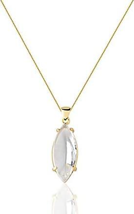 Toque De Joia Colar curto semijoia pêndulo navete pequena quartzo cristal