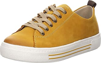 Remonte Womens Lace-Up Shoes D0900, Womens Sporty Lace-Up Yellow Size: 8.5 UK