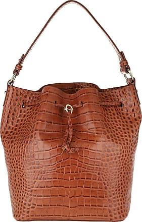 Aigner Tara Bucket Bag Cognac Hobo Bags cognac