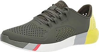 9a28b25471 Crocs Mens LiteRide Colorblock Pacer Sneaker, Army Green/White, 7 M US