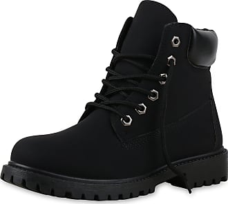 Scarpe Vita Women Bootee Worker Boots Tread Sole 151748 Black UK 5.5 EU 39