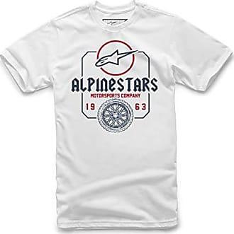 White//Black Blanco Hombre Medium Alpinestar Ageless Classic tee Camiseta de Manga Logo de Corte Moderno