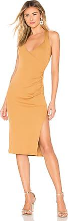NBD Bridget Midi Dress in Tan
