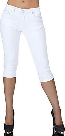 Damen 3//4 Capri Jeans Hose Shorts Damenjeans Caprijeans Bermuda Sommerhose N981