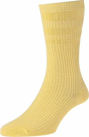 Hj Hall SoftopTM HJ90 The Original Cotton Rich Non Elastic Socks UK 6-11, 11-13 and 13-15 (UK 6-11 Eur 39-46, Mid Maize)