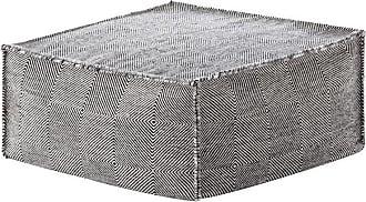 GAN Rugs Sail Gan Spaces Pouf/Sitzkissen - schwarz/Handknüpftechnik: Dhurrie/Füllung: Polystrol/75x75x35cm