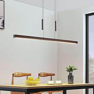 Lucande Lámpara colgante LED Tamlin madera, marrón oscuro