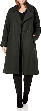 Rachel Roy Womens Zebra Notch Collar Wool Coat