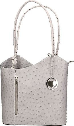 Chicca Borse Leather in Genuine Leather Made in Italy 28x30x9 cm
