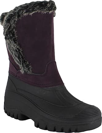 Groundwork Womens Mucker Stable Yard Winter Snow Velcro Boots Wellies Shoes Purple 5