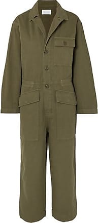 9281cc4f580d Current Elliott The Richland Cotton And Linen-blend Jumpsuit - Army green