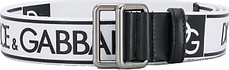 Dolce & Gabbana logo printed belt - White