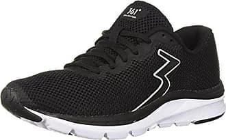 361° Womens 361-ENJECTOR Running Shoe, Black/White, 6 M US