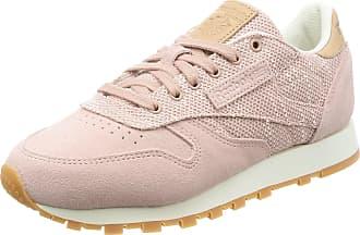 Reebok Womens Cl Leather Ebk Gymnastics Shoes, Pink (Shell Pink/Chalk/Lilac Ash/vegtan-Gum), 3.5 UK