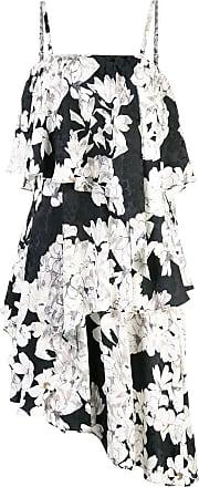 Natori Vestido com detalhe de babado - Preto