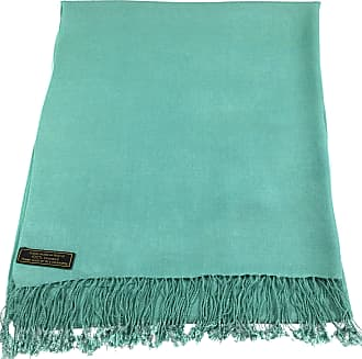 CJ Apparel Blue Green Solid Colour Design Nepalese Shawl Seconds Scarf Wrap Pashmina NEW(Size: One Size)