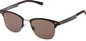 HUGO BOSS Mens BOSS 0934/N/S 70 4IN Sunglasses, Matt Brown/Bw Black Brown, 53