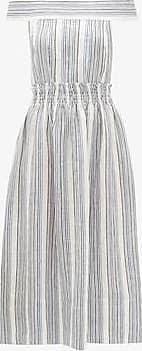 Three Graces London Porcia Dress in Marine Stripe