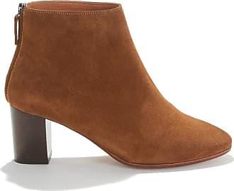 Boots kyra suede calf, niedriger absatz, veloursleder khaki