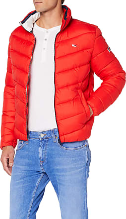 Tommy Jeans Tommy_Jeans Mens Tjm Essential Puffer Jacket, Red (Flame Scarlet 667), XX-Large (size: W38/L30)
