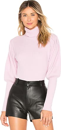 Milly Cashmere Puff Sleeve Sweater in Rose