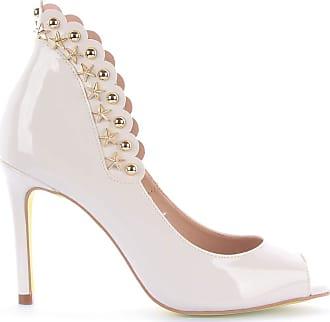 Di Valentini Peep Toe Rúbia 403-04080 Verniz Branco Branco - 38