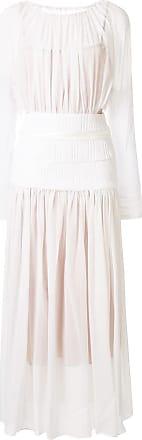 CHRISTOPHER ESBER sheer ruched dress - White