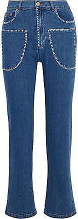 See By Chloé See By Chloé Woman High-rise Bootcut Jeans Mid Denim Size 28
