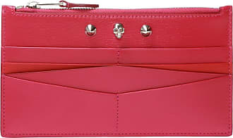 Alexander McQueen Wallet With Metalware Womens Pink