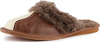 Ladeheid Womens Slippers House Shoes LAFA001 (Brown/Creme, 39 EU = 6 UK)