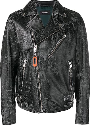 Diesel distressed biker jacket - Preto