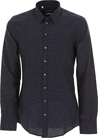 f28f5eb8bf Dolce & Gabbana Camicia Uomo On Sale in Outlet, Midnight, Cotone, 2017,