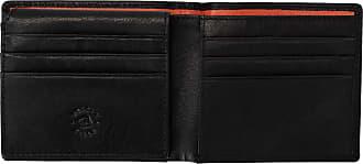 056b1d0459 Nuvola Pelle Portafoglio Uomo Piccolo Sottile in Pelle con 9 Tasche Porta  Carte Credito Tessere Nero