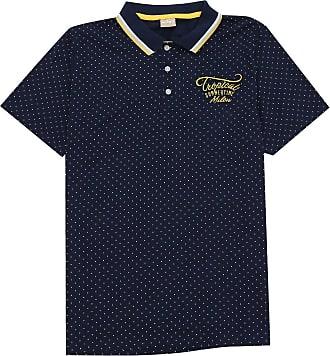 Milon Camisa Polo Milon Infantil Lettering Azul-Marinho