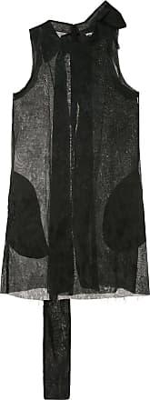 Yang Li Vestido de jacquard com laço - Preto