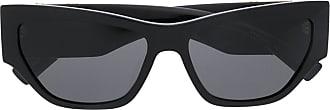 Versace Óculos de sol oversized oval - Preto