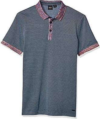 50f416f53 HUGO BOSS BOSS Orange Mens Punch Short Sleeve Polo Shirt, Dark Blue, L