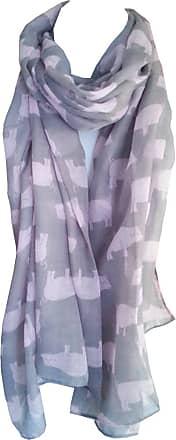 GlamLondon Pig Print Scarf Piglet Pigs Animal Womens Ladies Fashion Soft Big Shawl Wrap (Pink Grey)(Size:L)