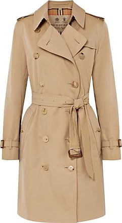 Burberry Trench-coat En Gabardine De Coton The Kensington - Beige c82d3897e5ef