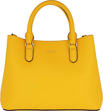 Lauren Ralph Lauren Tote - Marcy II Mini Satchel Bag Racing Yellow/Lauren Tan - yellow - Tote for ladies