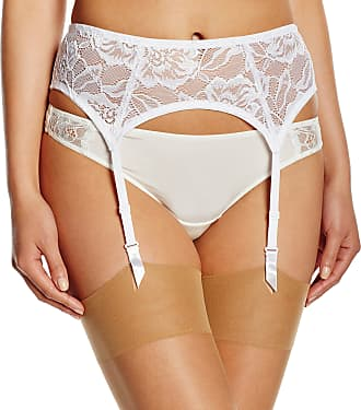 After Eden Womens 10.41.9165 Suspender Belt Anna Corset, White, X-Large