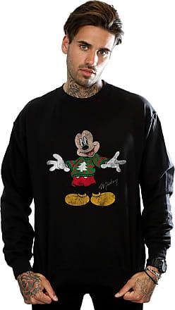 Disney Mens Mickey Mouse Christmas Jumper Sweatshirt XX-Large Black