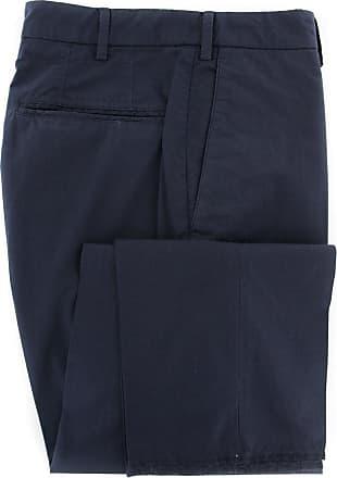 Incotex Navy Blue Solid Pants - Slim - 34(UK)/50(EU)